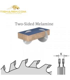 تیغ اره دیسکی الماسه خط زن دو تیکه CMT 120×22×3.6-Z12+12