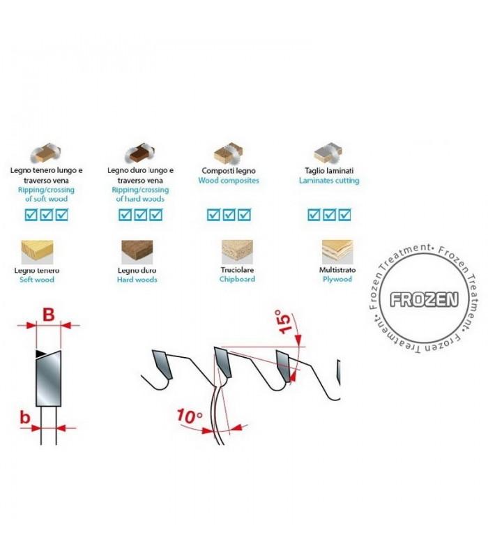 تیغ اره دیسکی الماسه برش چوب INTERNATIONAL 300×30×3.2-Z72