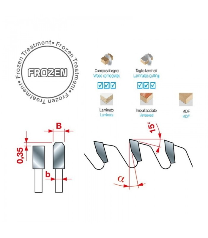 تیغ اره دیسکی الماسه پانل بر INTERNATIONAL 350×30×4.4-Z72