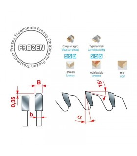 تیغ اره دیسکی الماسه پانل بر بی صدا INTERNATIONAL 400×30×4.4-Z60
