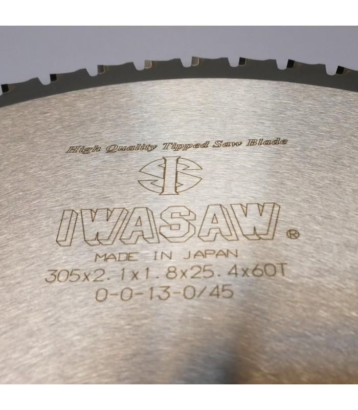 تیغ اره دیسکی الماسه پانل بر IWASAW 300×30×2.1-Z60