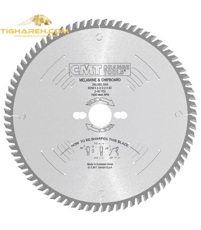 تیغ اره دیسکی الماسه MDF بر  CMT 350×30×3.5-Z108