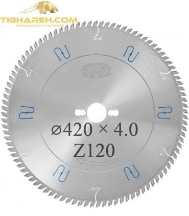 تیغ اره دیسکی الماسه آلومینیوم بر STARK 420×32×4.0Z120