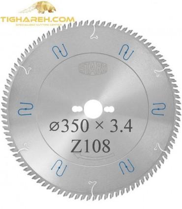 تیغ اره دیسکی الماسه آلومینیوم بر STARK 350×32×3.4Z108