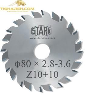 تیغ اره دیسکی الماسه خط زن دو تکه  STARK 80×20×2.8-3.6-Z10+10