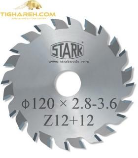 تیغ اره دیسکی الماسه خط زن دو تکه STARK 120×22×2.8-3.6-Z12+12