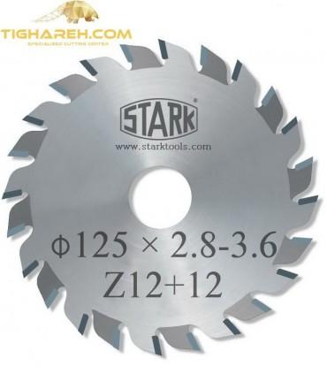 تیغ اره دیسکی الماسه خط زن دو تکه STARK 125×22×2.8-3.6-Z12+12