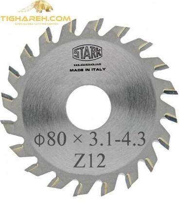 تیغ اره دیسکی الماسه خط زن کونیکال STARK 80×20×3.1-4.3-Z12