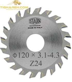 تیغ اره دیسکی الماسه خط زن کونیکال STARK 120×20×3.1-4.3-Z24