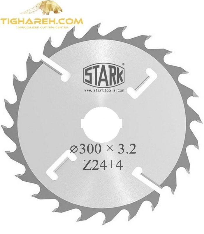 تیغ اره دیسکی الماسه پانل بر چوب پوشش دار  STARK 300×70/80×3.2-Z24+4