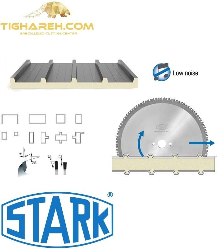 تیغ اره دیسکی الماسه پانل بر فلز STARK 300×30×3.50-Z108