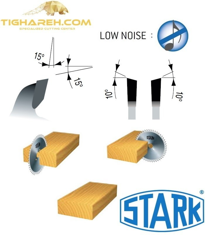 تیغ اره دیسکی الماسه چوب بر STARK 150×30×3.2-Z48
