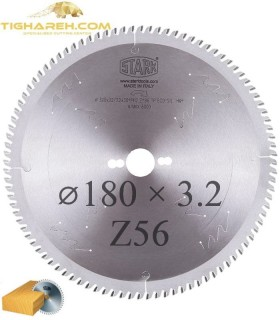 تیغ اره دیسکی الماسه چوب بر STARK 180×30×3.2-Z56