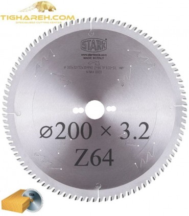 تیغ اره دیسکی الماسه چوب بر STARK 200×30×3.2-Z64