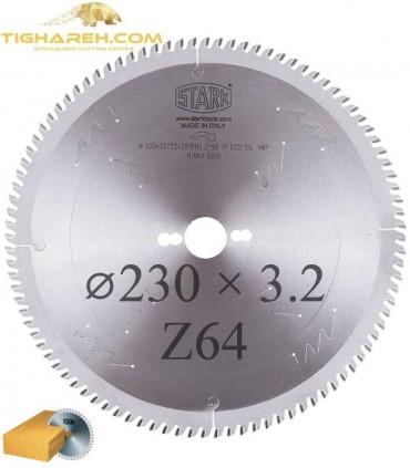 تیغ اره دیسکی الماسه چوب بر STARK 230×30×3.2-Z64