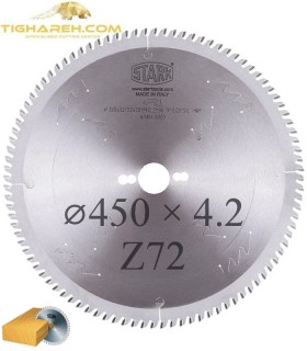 تیغ اره دیسکی الماسه چوب بر STARK 450×30×4.2-Z72