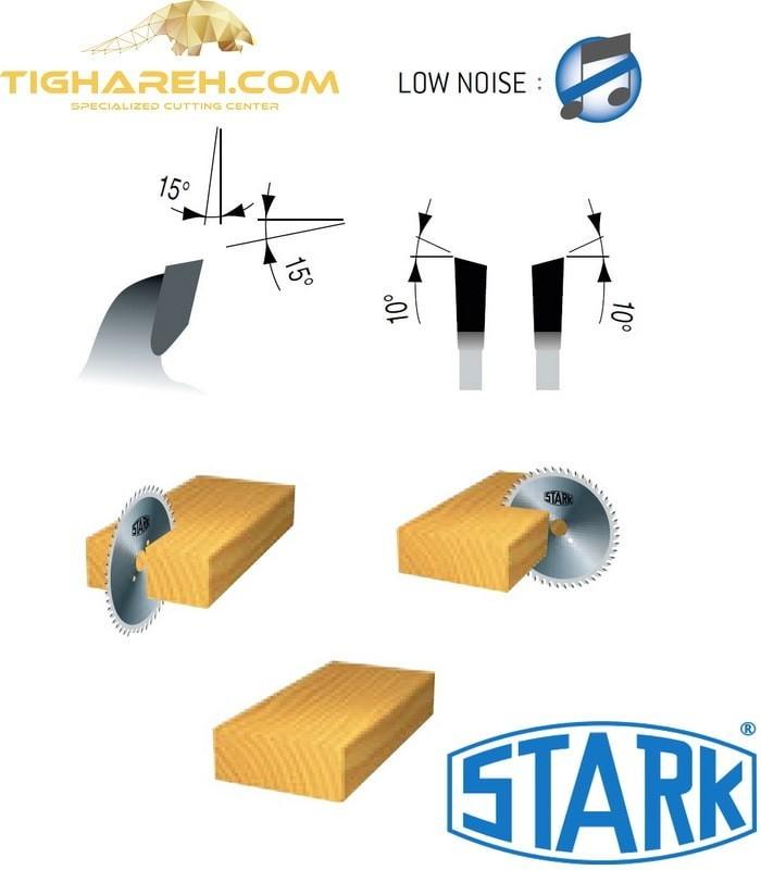 تیغ اره دیسکی الماسه چوب بر کروم STARK 250×30×3.2-Z40