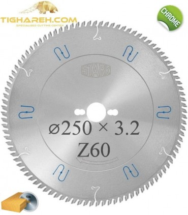 تیغ اره دیسکی الماسه چوب بر کروم STARK 250×30×3.2-Z60