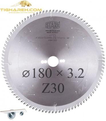 تیغ اره دیسکی الماسه ام دی اف بر STARK 180×30×3.2-Z30