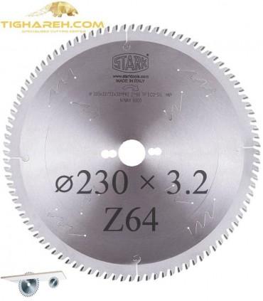 تیغ اره دیسکی الماسه ام دی اف بر STARK 230×30×3.2-Z64