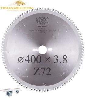 تیغ اره دیسکی الماسه ام دی اف بر STARK 400×30×3.8-Z72