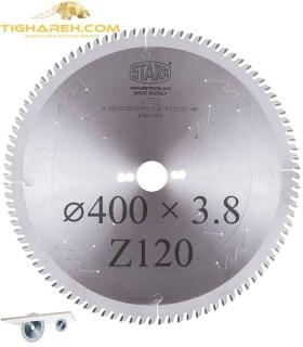 تیغ اره دیسکی الماسه ام دی اف بر  STARK 400×30×3.8-Z120