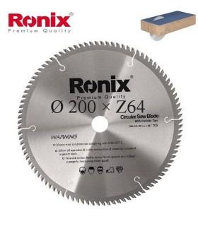 تیغ اره دیسکی الماسه MDF بر  Ronix 200×30×Z64