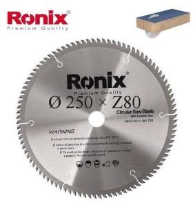 تیغ اره دیسکی الماسه MDF بر Ronix 250×30×Z80
