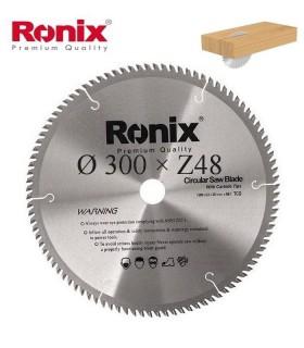 تیغ اره دیسکی الماسه چوب بر Ronix 300×30×Z48