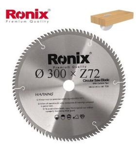 تیغ اره دیسکی الماسه چوب بر Ronix 300×30×Z72