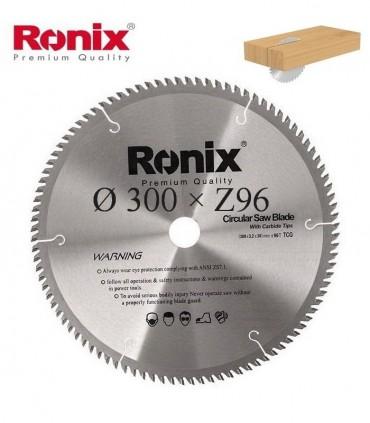 تیغ اره دیسکی الماسه چوب بر Ronix 300×30×Z96