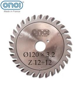 تیغ اره دیسکی الماسه خط زن دو تکه ONCI 120×20×3.2-Z12+12