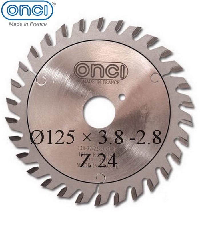 تیغ اره دیسکی الماسه خط زن کونیکال ONCI 125×20×3.8-Z24