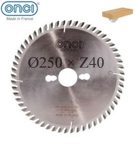 تیغ اره دیسکی الماسه چوب بر ONCI 250×30×Z40