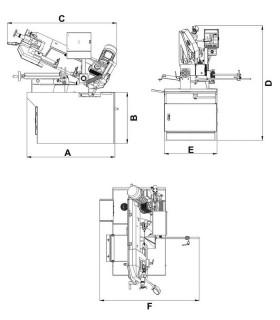 دستگاه اره نواری بازویی دستی TREX 220