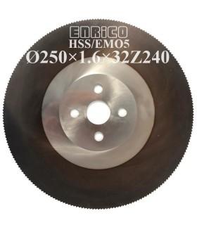 تیغ اره دیسکی آب صابونی فولاد بر ENRICO - 250×1.6×32-Z240