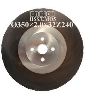 تیغ اره دیسکی آب صابونی فولاد بر ENRICO - 350×2.0×32Z240