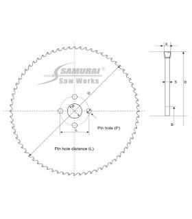 تیغ اره دیسکی الماسه برش استیل - Samurai SR-7SUS Ø460