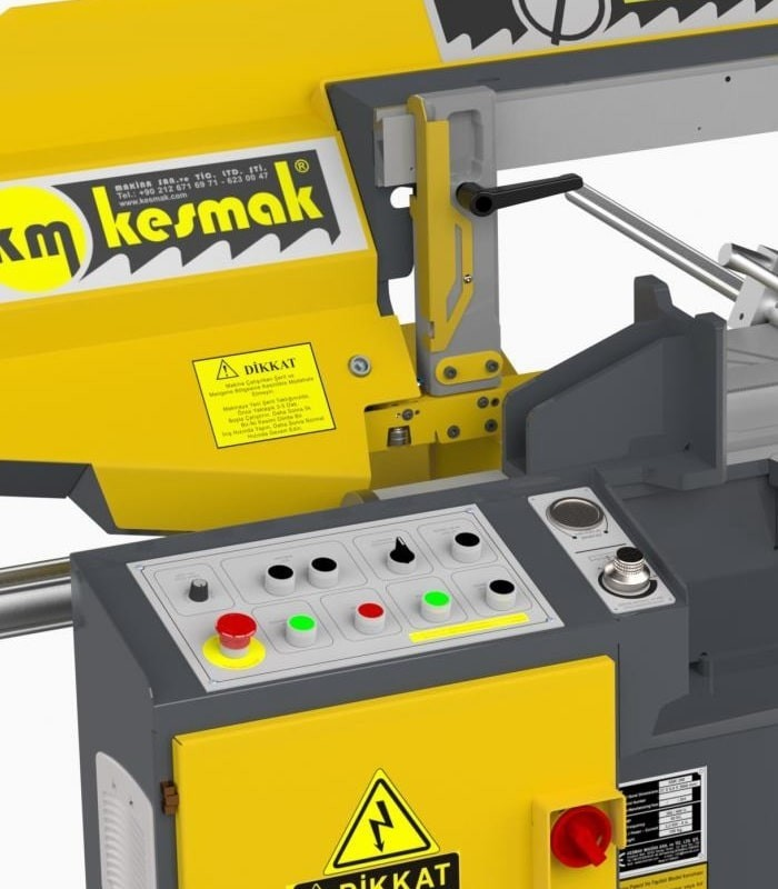 دستگاه اره نواری نیمه اتوماتیک زاویه زن KMY DG 280