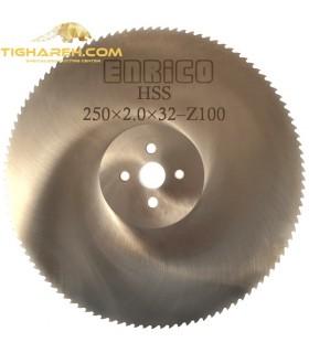 تیغ اره دیسکی HSS  آلومینیوم بر ENRICO - 250×2.0×32-Z100