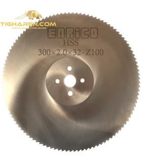 تیغ اره دیسکی HSS  آلومینیوم بر ENRICO - 300×2.0×32-Z100
