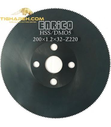 تیغ اره دیسکی HSS/DMO5  فولاد بر ENRICO - 200×1.2×32-Z220