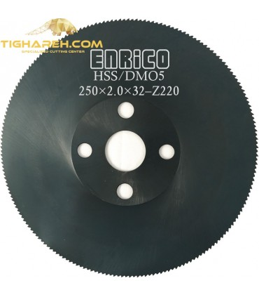 تیغ اره دیسکی HSS/DMO5  فولاد بر ENRICO - 250×2.0×32-Z220