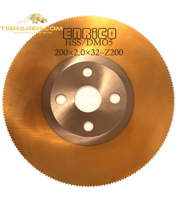 تیغ اره دیسکی HSS/DMO5  فولاد بر ENRICO - 200×2.0×32-Z200